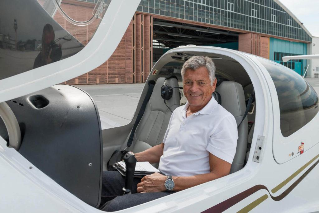 Andreas Knapp im Cockpit